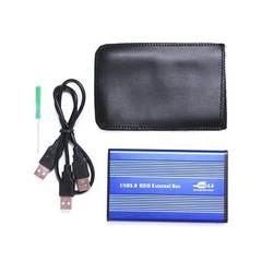 """Горячая практические Пластик USB 2,0 Внешний 2,5 """"IDE HDD корпус синий для ноутбуков"""