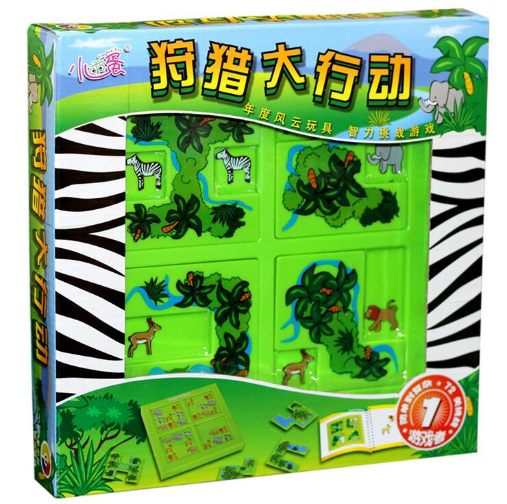 plastic toy birthday christmas gift Hide seek Hunting Campaign intellect game animal forest set funny puzzle board game