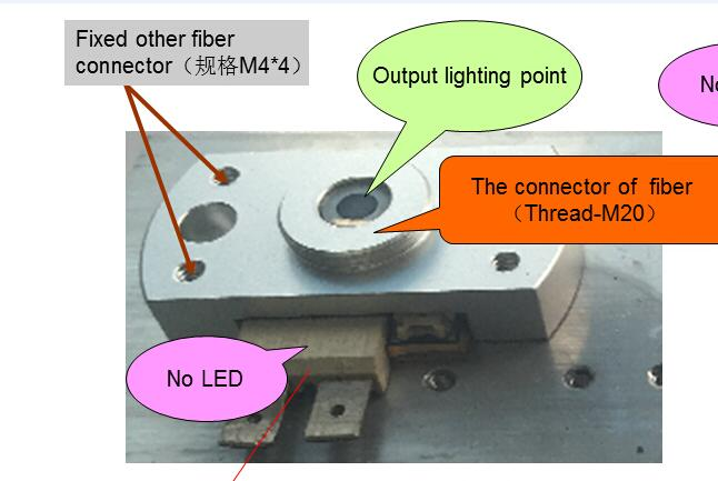 Image 3 - the endoscope led light source lens and the fiber connector,suitable for phlatlight led cbt90 cbt140-in LED Modules from Lights & Lighting