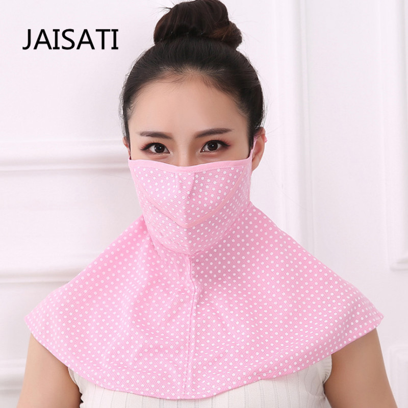 JAISATI Summer sunscreen masks female anti-UV necklace  thin breathable bicycle dust shade mask 3m 9502 dust masks n95 anti particulate matter anti pm2 5 smog protective industrial dust influenza virus mask h012912