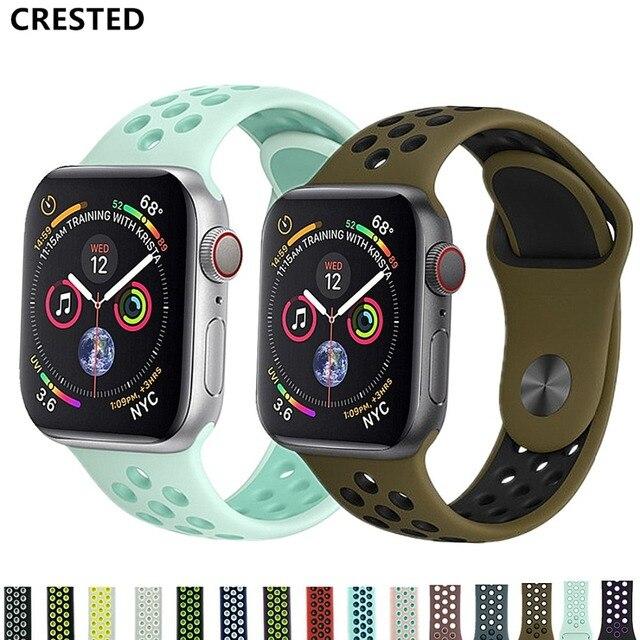 CRISTA Esporte Strap Para apple watch band 4 3 42mm/44mm banda iwatch 38mm/40mm correa pulseira apple watch 4 3 2 relógio Acessórios