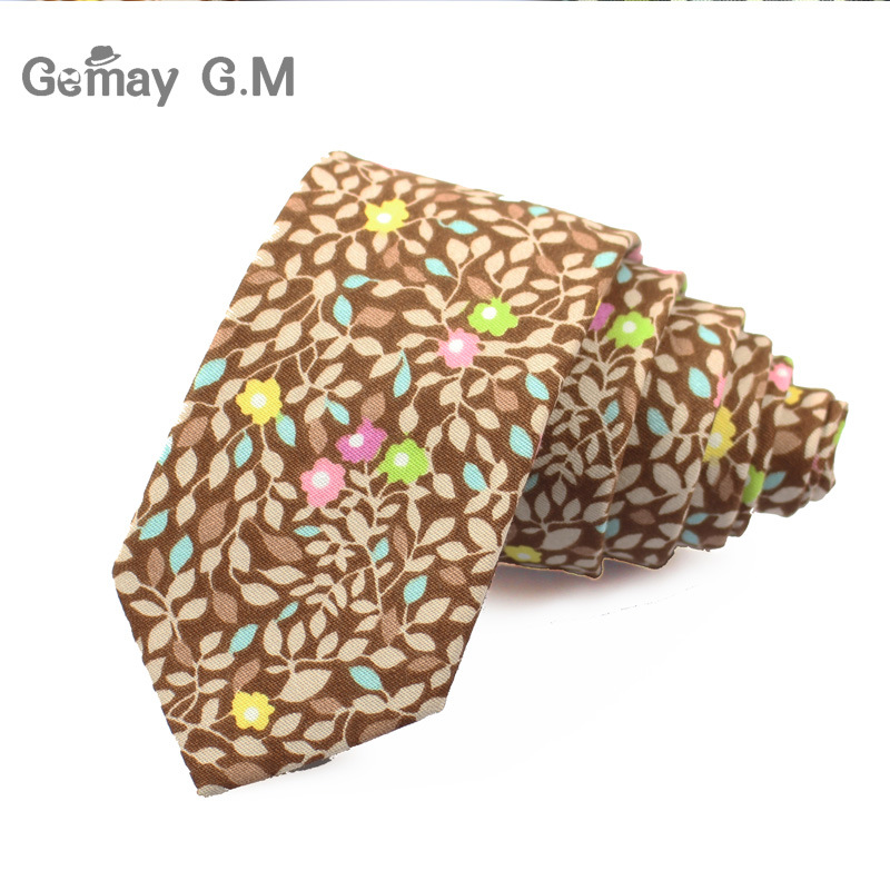 Marke Baumwolle Floral Krawatten Für Männer Anzug Dünne Mens - Bekleidungszubehör - Foto 3