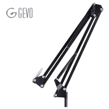 GEVO NB 35 Metal Extendable Recording Microphone Stand Tripod Boom Scissor Arm Holder With Clip Mounting Clamp