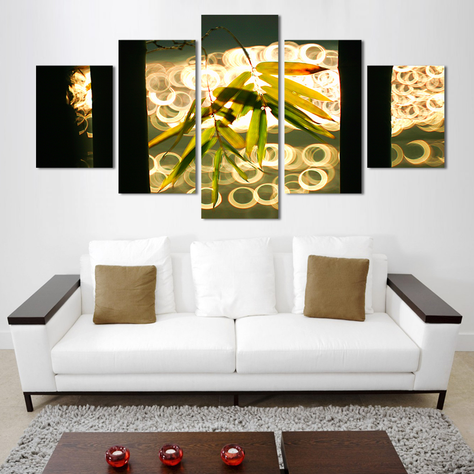 2016 Top Fashion 5 Piece Hot Sell Wall Painting Of Bamboo New Design Home  Art Picture Living Room Decorate Paint On Canvas Print In Painting U0026  Calligraphy ...