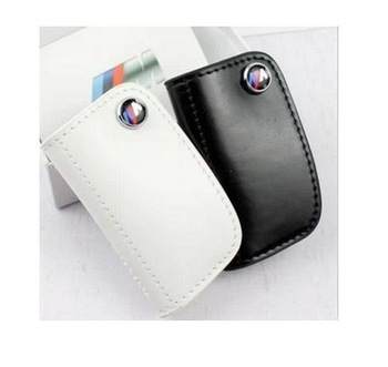 M logo leather car key case  For BMW M1 M3 M5 M6 E90 F05 F10 F20 F30 X1 X3 X5 X6 116I 118I 125I 730li 520i 535i 320I 325I 328I