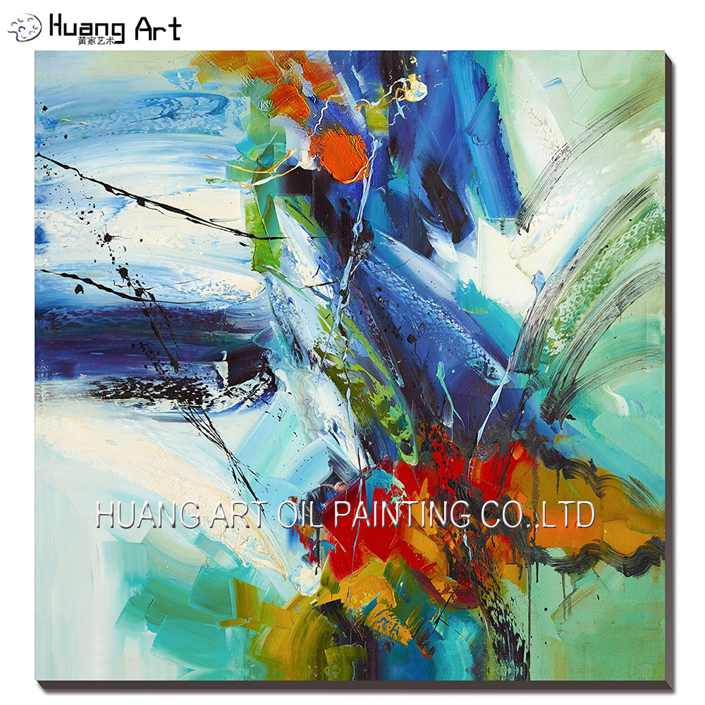 Big Size 100 Handmade Modern Landscape Painting On Canvas Cool Colors Abstract Painting For Living Room Artwork Wall Decor Modern Landscape Painting Paintings On Canvaslandscape Painting Aliexpress