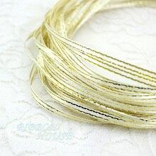 (20 м/лот) 1/8 »(3 мм) крем белая атласная лента золотой край ленты оптовая продажа высокого качества подарочная упаковка ленты