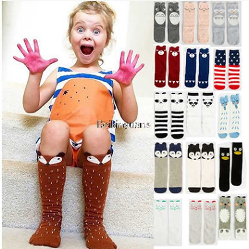 2019 yeni diz yüksek bacak isıtıcıları Bebek sıcak tarzı karikatür pamuklu çorap erkek kız hayvan desen bacak ısıtıcıları çocuklar stocking bebek