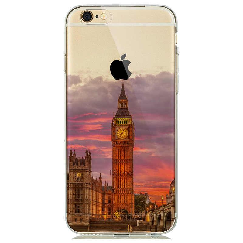 غلاف بتصميم طبيعي مناسب لهاتف coque iPhone 5s SE 6 6s مصنوع من السيليكون الناعم ملحقات جبال الثلج في مدينة لندن