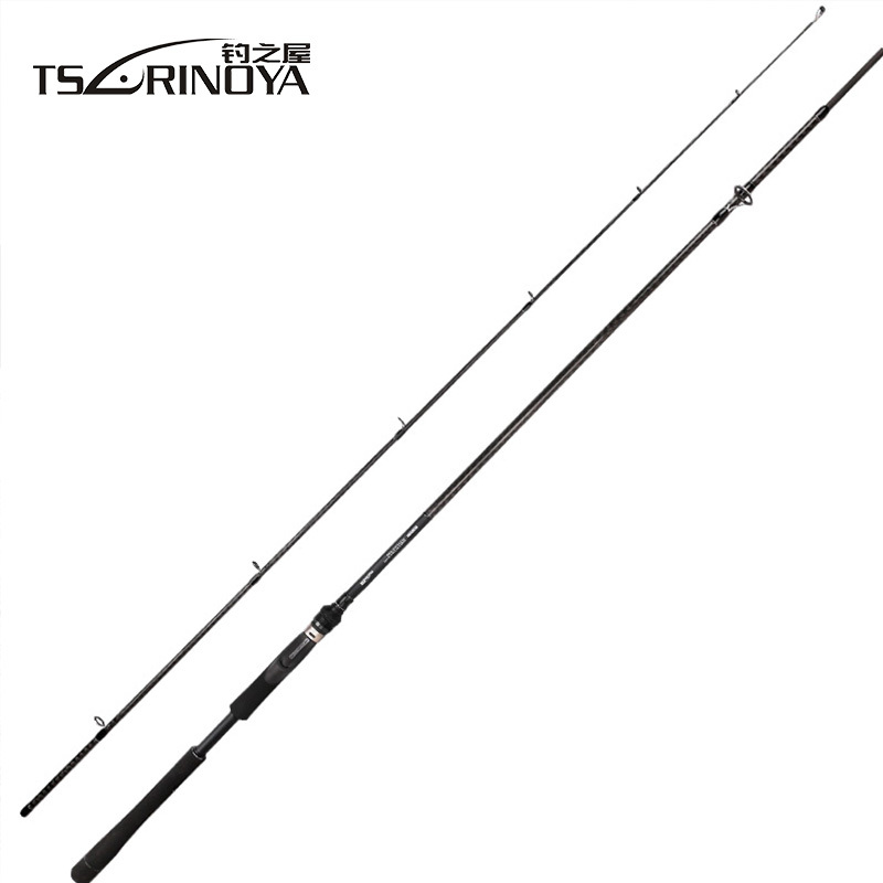 TSURINOYA TYRANTS 802M 902M FUJI Accessory Bass Rod Long Distance Throw Spinning Rod 2 4M Carbon