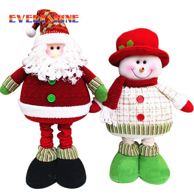 christmas decorations for home adornos navidad 1pcslot stuffed plush toys elongated 70cm long legged - Stuffed Santa Claus