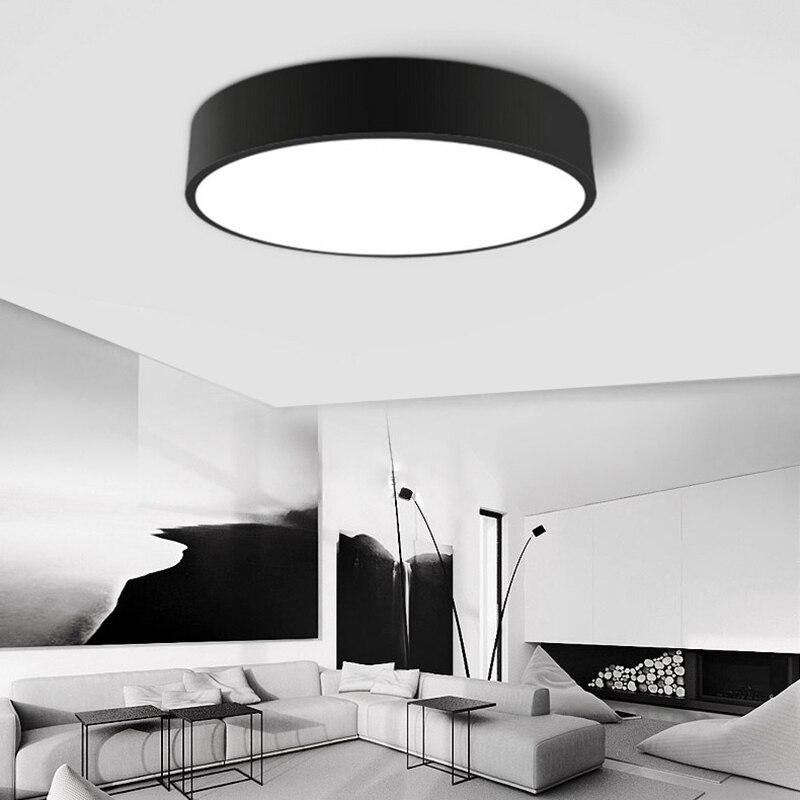 flush mount ceiling lights living room bedroom modern lamps acryl home design plafonnier lamparas techo lamp moderne lighting
