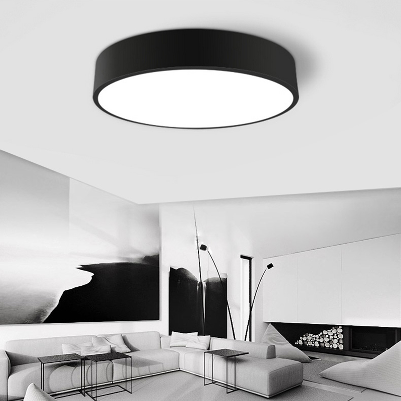 Flush mount ceiling lights living room bedroom modern lamps acryl home design plafonnier for Modern lamps for living room