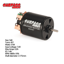 SURPASS HOBBY 540 45T Brushed Motor 3.175mm Shaft for 1/10 RC Off road Racing Car Vehicle Part Accessories