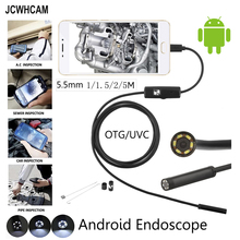 1M 2M 5M 5.5mm Lens MircoUSB Android OTG USB Endoscope Camera Waterproof Snake Pipe Inspection Android USB Borescope Camera