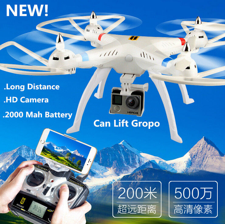 HQ899  2.4G 4CH Big RC Quadcopter Drone Helicopter With 5.0MP HD Wifi FPV Camera Can lift Gropp Xiaomi Long Distance Flying jjr c jjrc h43wh h43 selfie elfie wifi fpv with hd camera altitude hold headless mode foldable arm rc quadcopter drone h37 mini