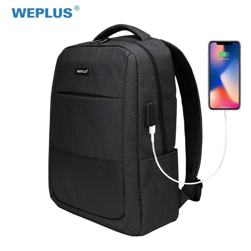 d51d83bec3ea WEPLUS Backpack 15.6 inch Laptop Backpack USB Charging Casual Style  Waterproof Bag Men Women Anti Thief