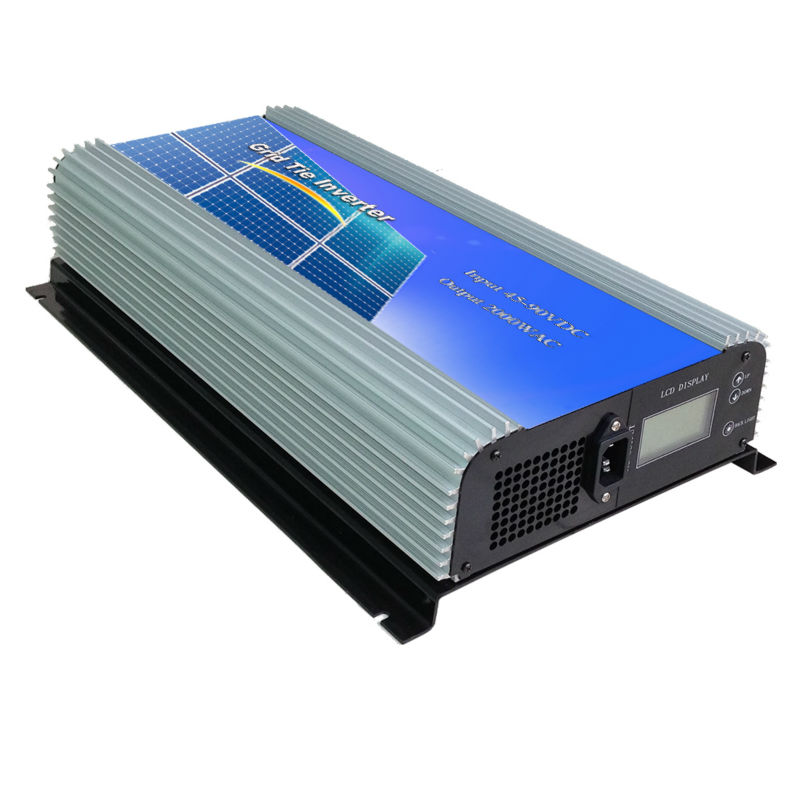 MAYLAR@2000W Grid Tie Power Inverter Pure Sine Wave Inverter 2KW 45-90V DC to AC 220VAC Solar Grid Tie Inverter with LCD Display 1kw solar grid tie inverter 12v dc to ac 230v pure sine wave power pv converter