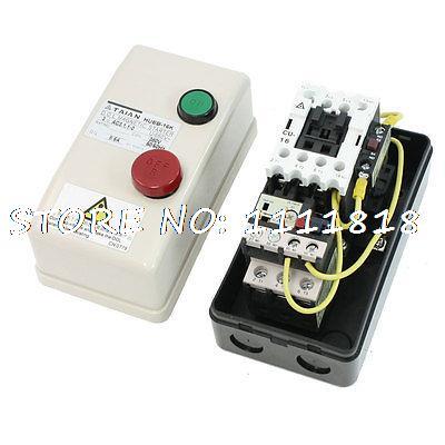 On Off Switch Non Reversing Type 3 Phase Motor Magnetic Starter 380V AC Coil