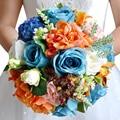 Accesorios de boda Nupcial de Las Flores Ramo de Rosas ramo de la boda Ramo de Novia Artificial ramos De Flores para La Boda FE17