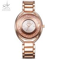 Shengke SK Watches Women Crystal Diamond Ladies Watch Gold 2017 Top Luxury Brand Reloj Mujer Relogio