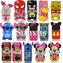 3D Cartoon Animal Soft Silicone Phone Back Case Cover Skin Shell For Apple iPhone 4 5 5S 5C SE 6 6S 6 Plus 6S Plus цена
