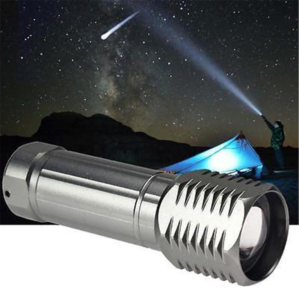 Mini T6 LED Flashlight Torch 3000LM Adjustable Focus Zoom Light Lamp New J