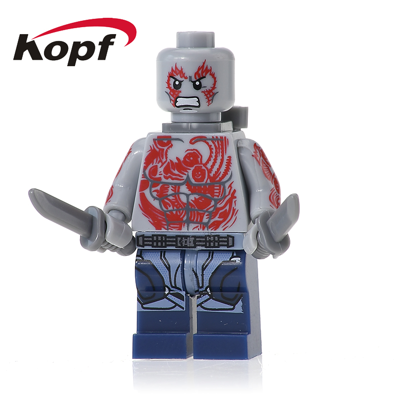 XH 606 Super Heroes Building Blocks Guardians of the Galaxy Drax the Destroyer Rocket Racoon Supervillain Kismet Bricks Kid Toys