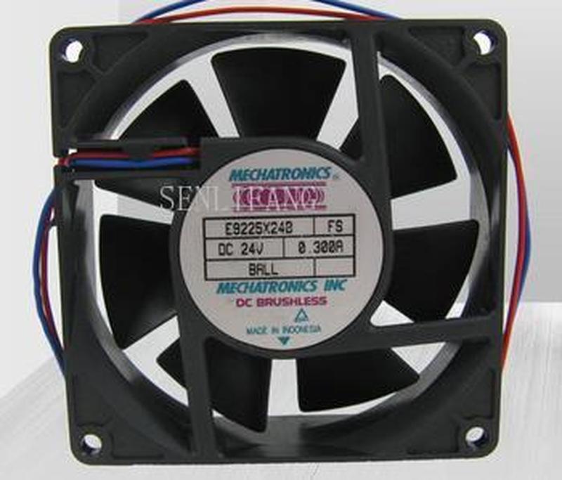 For MECHATRONICS E9225E24B, FS DC 24V 0.255A, 92x92x25mm 2-wier Server Square Fan