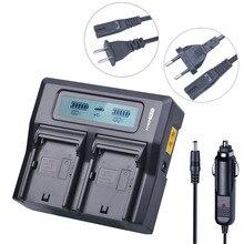 NP-F970 NP-F960 F970 F960 ЖК-дисплей быстрого двойной Зарядное устройство для Sony NP F960 F970 батарей и F930 F950 F770 F570 F975 HVR-HD1000