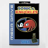 Sonic and knuckles 16 bit SEGA MD Game Card With Retail Box For Sega Mega Drive For Genesis