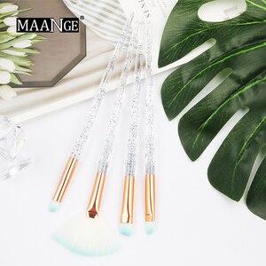 Image 2 - Maange 4/10 個新ダイヤモンド化粧ブラシセット女性財団パウダーブラッシュリップ化粧品のためのカラフルなを構成するツール