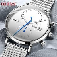 OLEVS Watch Men Top Brand Luxury Mens Watch Milanese Steel Strap Clock Men Watches Relogio Masculino