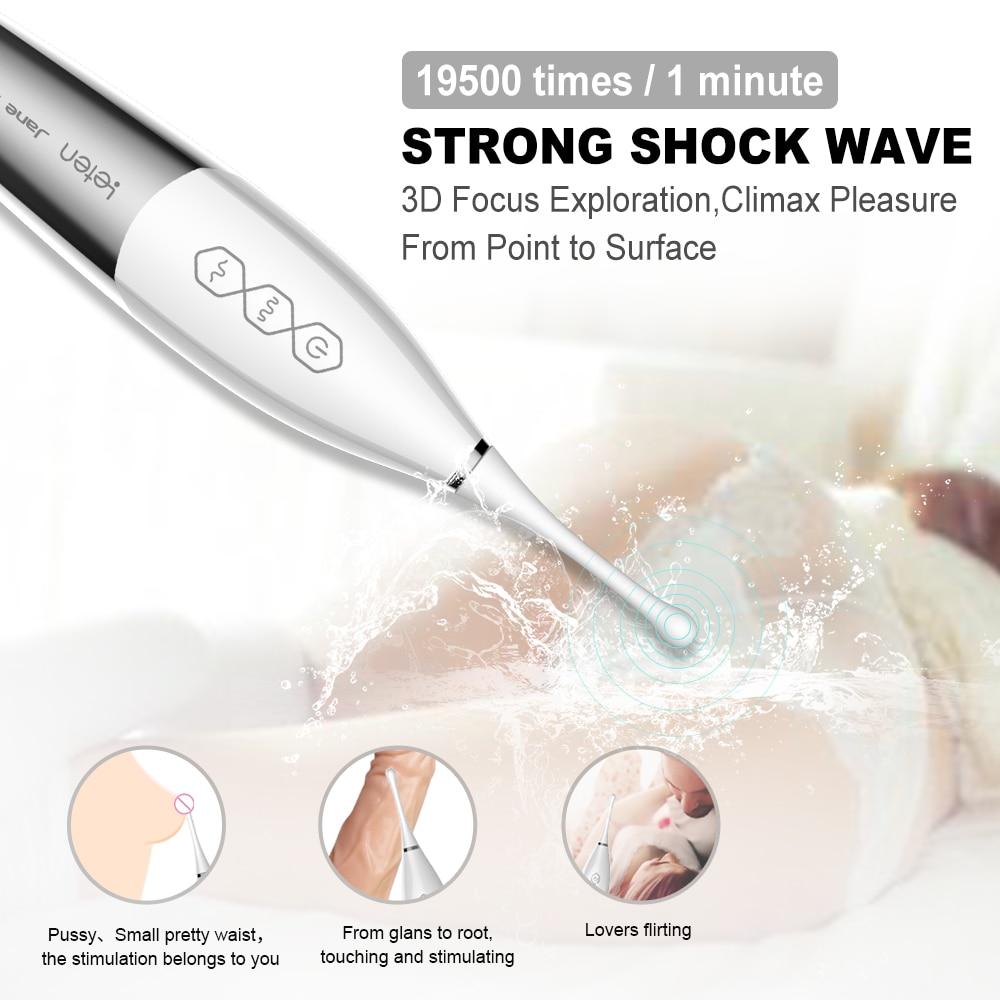 Ultrasons Clit Vibrateur Magique Baguette Vagin Pussy G Spot Clitoris Stimuler Machine De Sexe Érotique Femelle Adulte Sex Toys Pour Femme