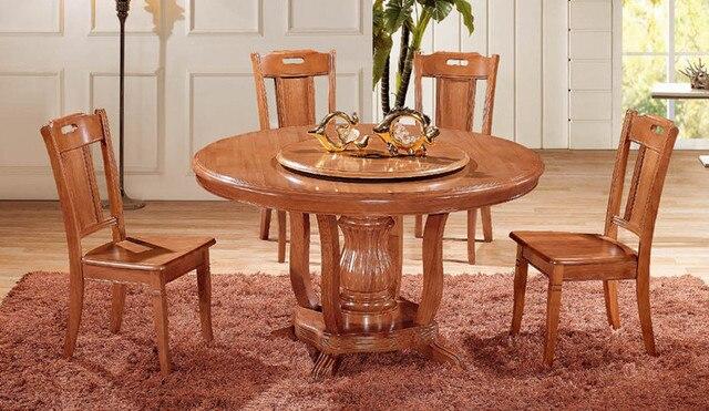 Roble directo de la fábrica mesas y sillas de comedor con una ...