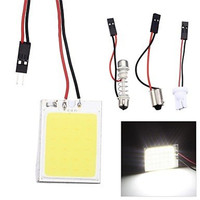 DIC 200x Xenon White Bulb Panel 24 LED 48 SMD COB BA9s Car Dome Map Light