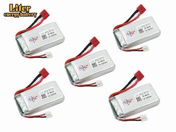 5pcs/set 7.4V 2500mAh 903462 Lipo Battery 12423 12428 For Wltoys 12423 12428 Crawler Car Battery 7.4 V Lithium battery