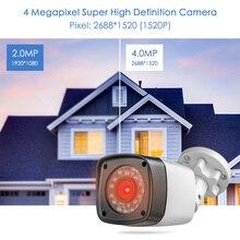 FUERS 2688*1520P 4MP AHD Камера CCTV фильтр, отсекающий ИК область спектра, фильтр 24 ИК светодиодный Камера для дома и улицы IP65 Водонепроницаемый Ночное Видение безопасности DVR