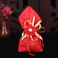 20pcs/lot Creative linen cloth candy bags Wedding Candy Box chocolate box Gift Bags Birthday Party Decorations Supplies