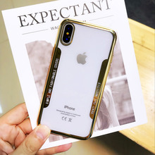 Cyayo plating Case For iPhone 6 6s 7 8 X Transparent Silicon 6S Plus Clear Soft TPU Luxury Back Cover