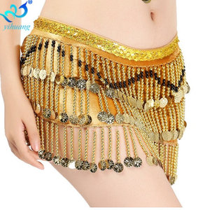 Oriental Belly Dance Velvet Hip Scarf Indian Dancing Belt Costume Club Stage Show Wrap Skirt Women Sexy Beading Party Wear
