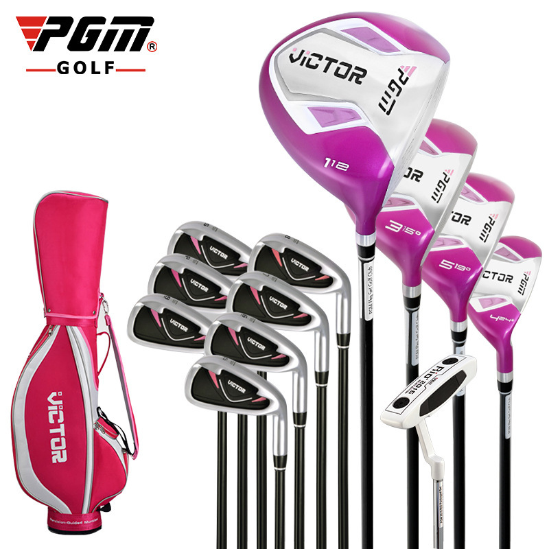 Brand PGM New Pattern Women Beginner 9 12 Full Set Clubs Branch Golf Wedge Driver Iron Rod Putter With Bag Factory Genuine ...