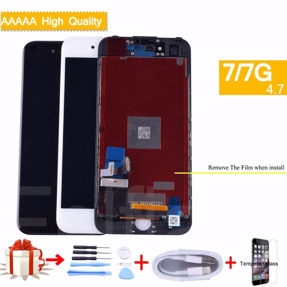 Grade AAA Pantalla LCD Pour iphone 7 lcd affichage digitizer Assemblée avec 3D tactile Remplacement d'écran Pour iphone 7 lcd d'origine