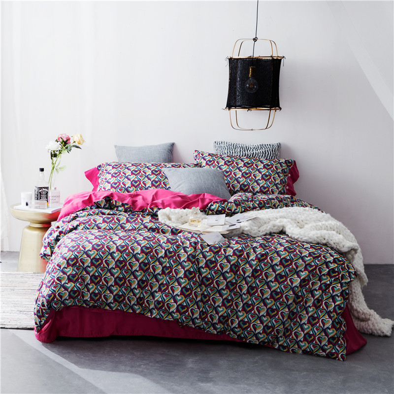 Nordic style Leopard Print Fire Balloon Cotton Bedding Sets 4 pieces Duvet Cover Bed Sheet Pillowcases King Queen SizeNordic style Leopard Print Fire Balloon Cotton Bedding Sets 4 pieces Duvet Cover Bed Sheet Pillowcases King Queen Size