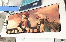 Pokemons геймерский коврик для мыши популярные 800x300x3 мм игровой коврик для мыши масса блокнот с рисунком ПК Аксессуары ноутбук padmouse эргономичный коврик