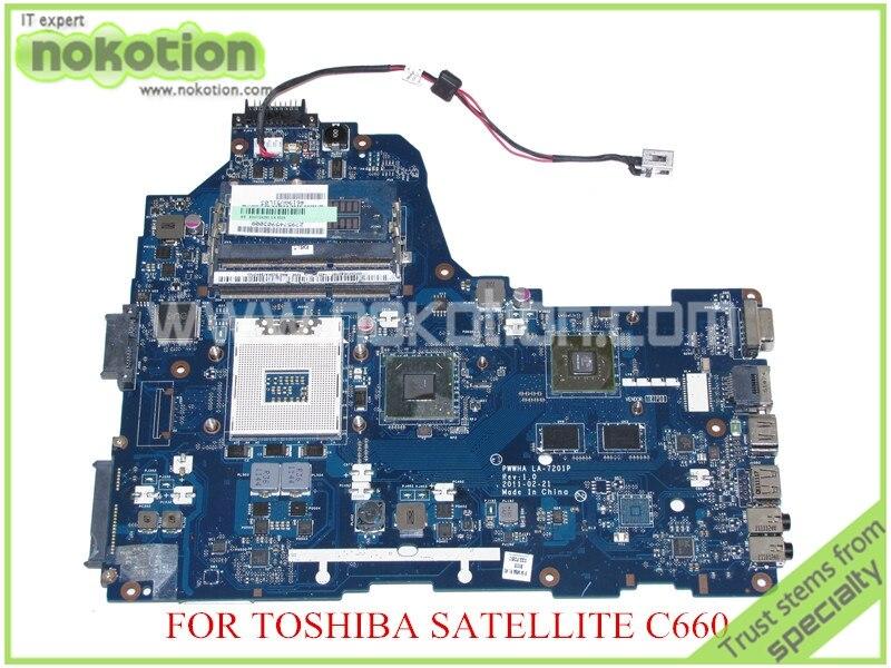 NOKOTION PWWHA LA 7201P Rev 1.0 MB K000128440 For toshiba satellite C660 Laptop motherboard HM65 GeForce GT520M