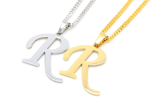 Zidom gold color graceful letter r initials for lovers unisex zidom gold color graceful letter r initials for lovers unisex pendant necklace miami cuban curb chain aloadofball Image collections