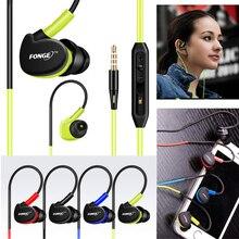 Fonge עמיד למים אוזניות באוזן אוזניות HIFI ספורט אוזניות בס אוזניות עם מיקרופון עבור xiaomi גלקסי s6 חכם טלפונים