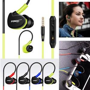 Image 1 - Fonge Impermeabile Wired Auricolari In Ear Auricolari HIFI Sport Bass Cuffie Auricolare con Il Mic per la Galassia s6 huawei smart phone GT