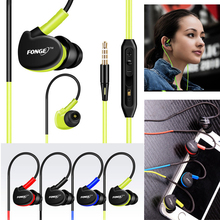 Fonge עמיד למים Wired אוזניות באוזן אוזניות HIFI ספורט בס אוזניות אוזניות עם מיקרופון עבור גלקסי s6 huawei חכם טלפונים GT